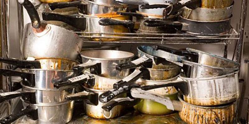 Undorító konyha az ételfutár cégnél