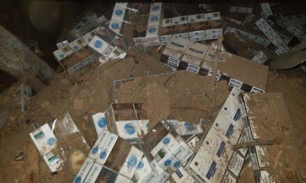 Föld alatti pincerendszerben rejtegette a csempészett cigit