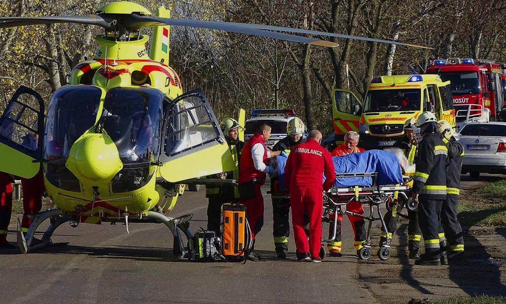 Súlyos baleset miatt mentőhelikopter érkezett az óvodához