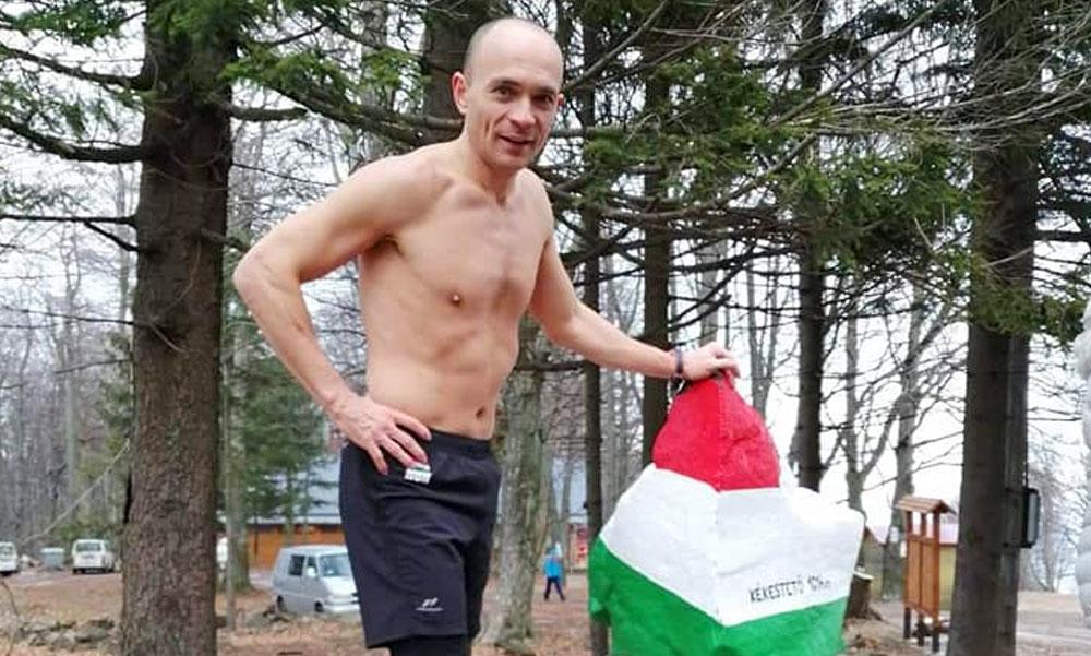 23 kilométert futott minusz 2 fokban egy futónadrágban a férfi