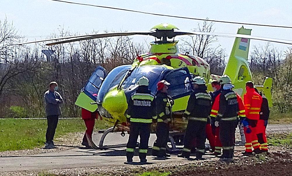 Vontató gázolt egy kisgyereket – mentőhelikopterrel vitték kórházba, állapota válságos
