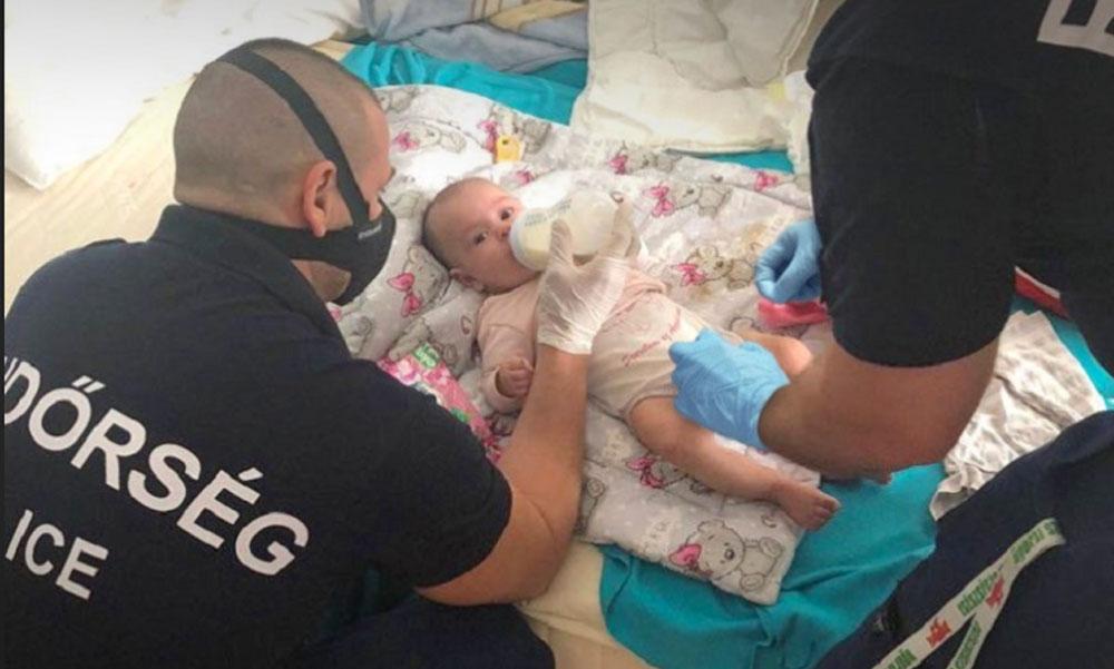 Míg az anya dolgozott, az apa bedrogzova őrjöngött a csecsemővel az erkélyen