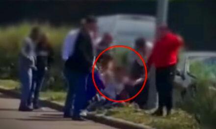 Menekülni akart a balesetet okozó nő, többen lefogták és a földre nyomták