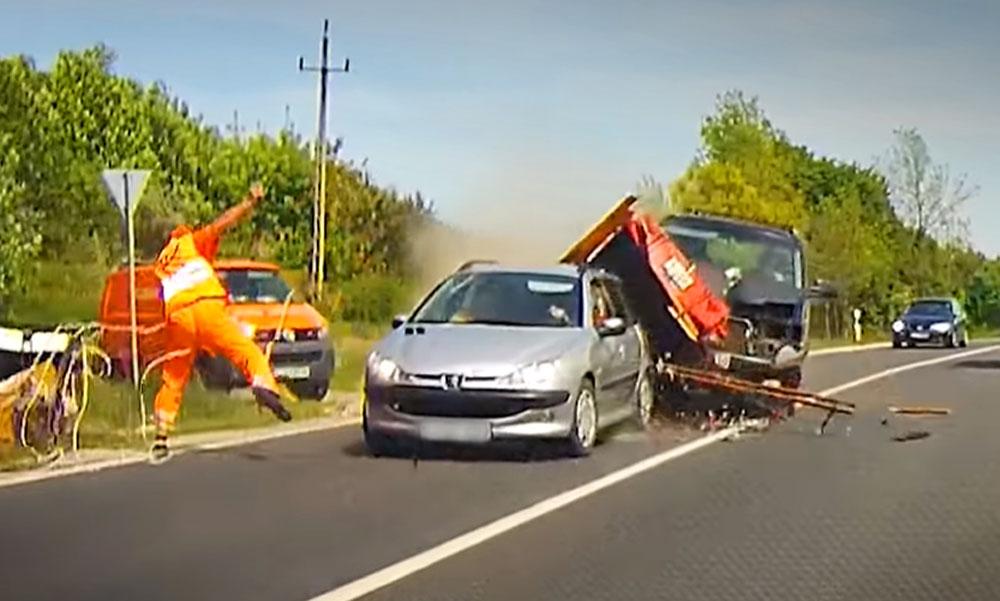 Brutális baleset! Fűrészgép repült a munkás felé