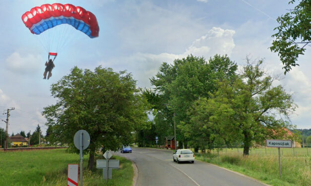 Lezuhant egy ejtőernyős, a nő a helyszínen meghalt