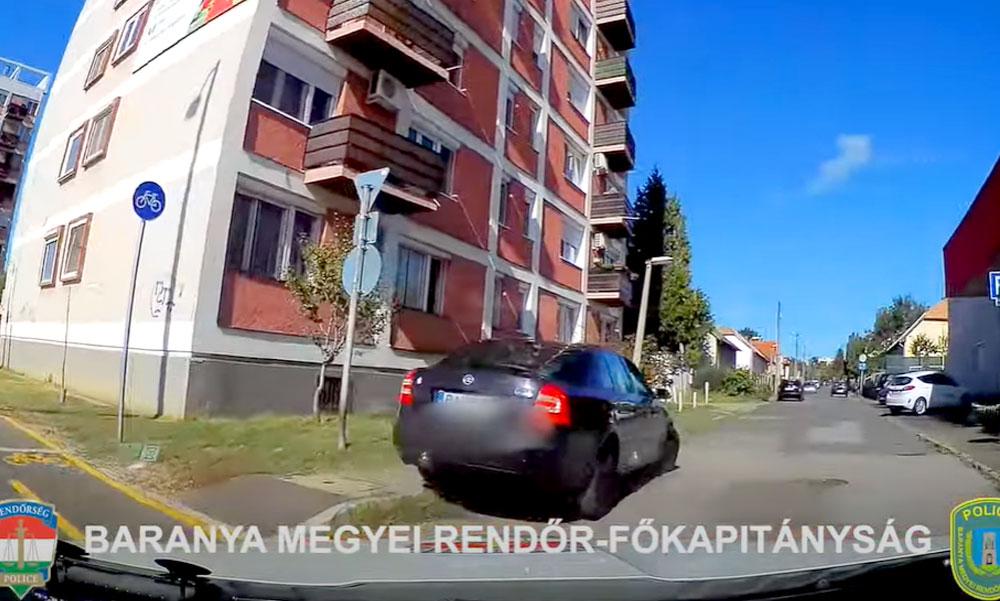 Drogosan padlógázzal Pécsen, semmi sem állította meg a rendőrök elől menekülő autóst