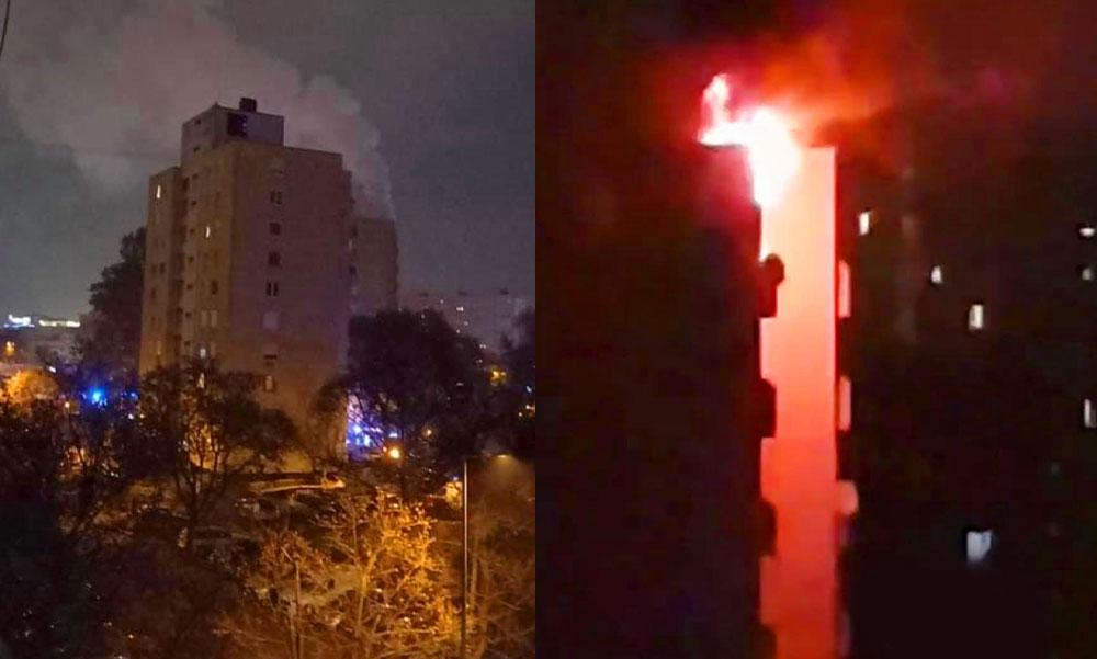 Tűzoltók bevetésen: videón a budapesti lakástűz oltása és a mentés