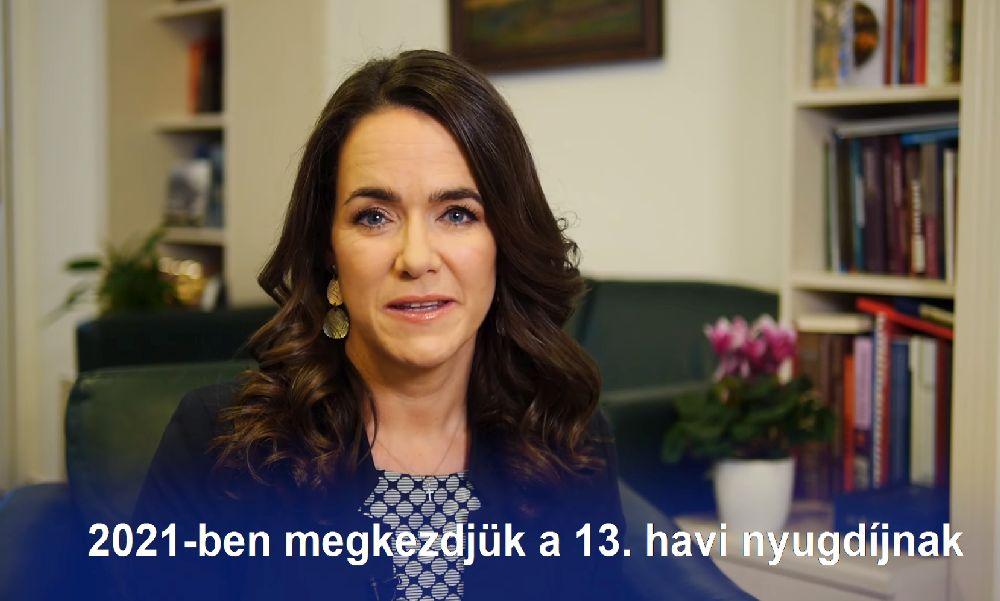 """Novák Katalin: """"Garantáltan visszaépítjük a 13. havi nyugdíjat"""""""