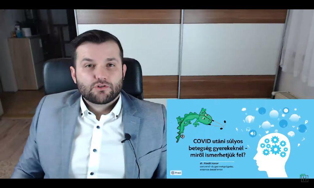 Novák Hunor a gyerekeknél jelentkező poszt-koronavírus kórról tartott előadást – Szerinte ez életmentő lehet – videó
