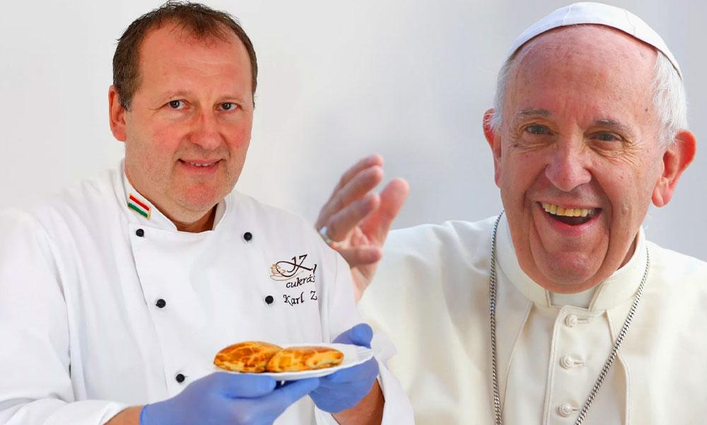 Ferenc pápa is megnyalja majd mind a 10 ujját a dunaharaszti cukrászmester süteménye után