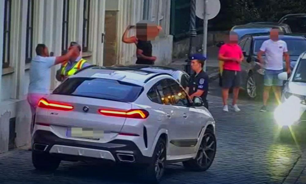 """""""Szégyelljék el magukat mind, ahányan vannak!"""" – Győzike kiborult, mert tilosban parkolt a luxus BMW-jével és megbüntették, itt a videó az utcai balhéról"""
